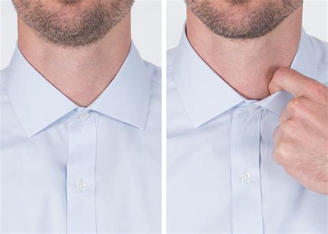 how tight should a collar be how snug should a shirt collar fit proper cloth reference