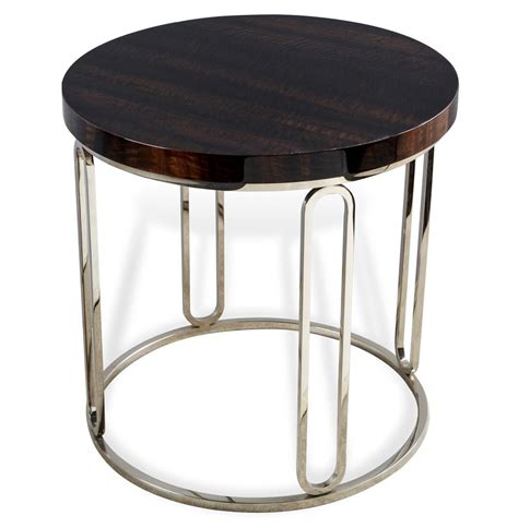 Silver Side Table Barcelona Polished Eucalyptus Wood Silver Side Table Kathy Kuo Home