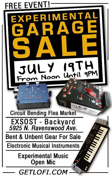 Advertise Garage Sale For Free by Experimental Garage Sale Chicago July 19th Getlofi
