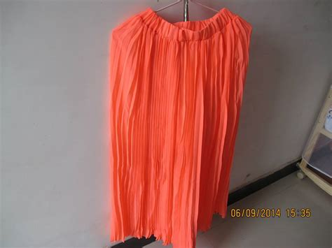 neon coral pink pleated chiffon length maxi skirt ebay