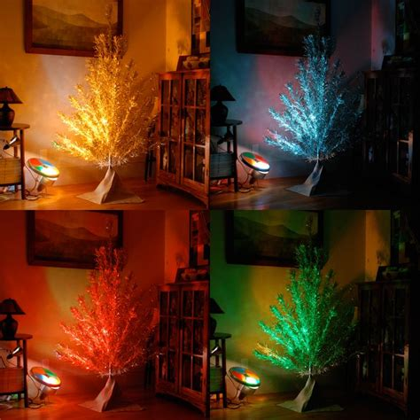 aluminum christmas tree with color wheel holiday magic