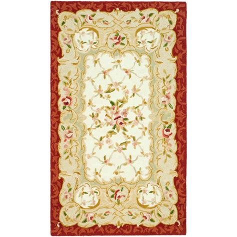 4 x 9 rug safavieh chelsea ivory burgundy 2 ft 9 in x 4 ft 9 in area rug hk73a 3 the home depot