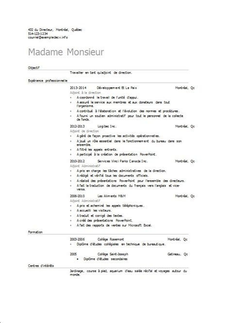 Lettre De Présentation Cv Adjointe Administrative Exemple De Cv Adjoint Adjointe De Direction Exemple De Cv Info