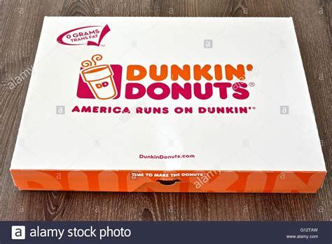 Box Of 10 Dunkin Donuts A Box Of Dunkin Donuts Stock Photo Royalty Free Image