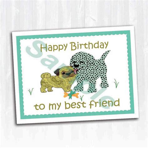 Happy Birthday To My Best Friend Card Moonglo Creations Creating Folded Book Art For Any