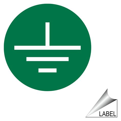 earth terminal ground symbol label label sym 18 c shock hazard