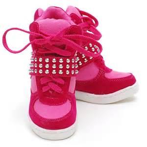 Link fuchsia studded high top sneaker shoes toddler 9 little girls 4