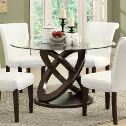 Tempered Glass Dining Table Set Monarch Specialties I 1749 5 Espresso Tempered Glass Dining Room Set Beyond