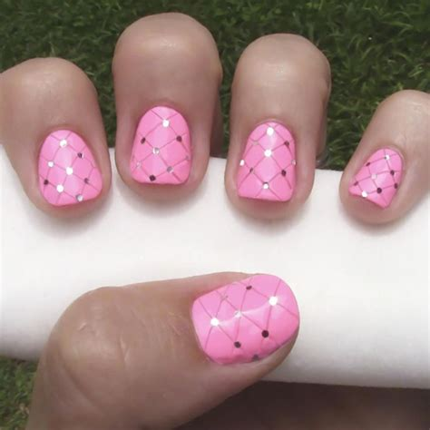 tutorial nail art sendiri how to do quilted nail art rosas
