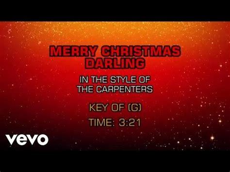 carpenters merry christmas darling karaoke youtube