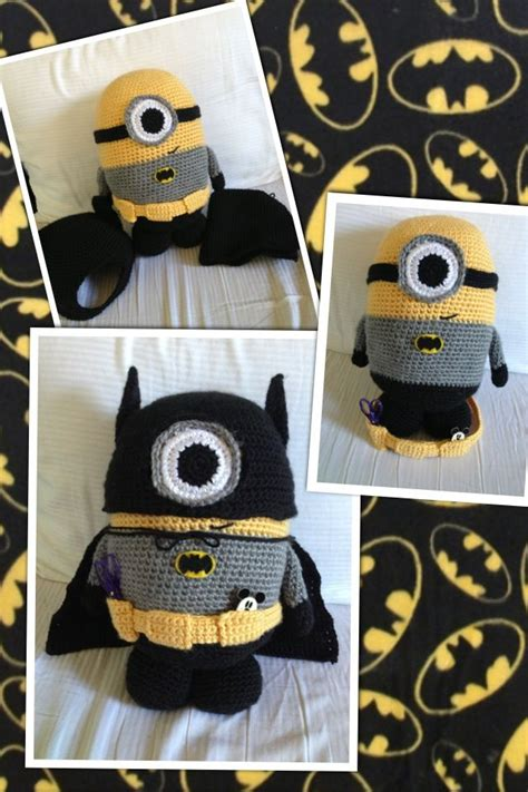 minion diy crafts batman minion amigurumi crochet doll despicable me diy