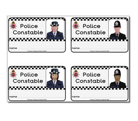 printable id cards uk police constable id badges police station pinterest