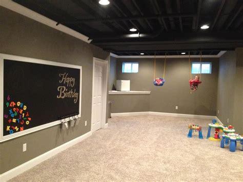 basement concrete wall paint white amazing basement the 25 best unfinished basement playroom ideas on