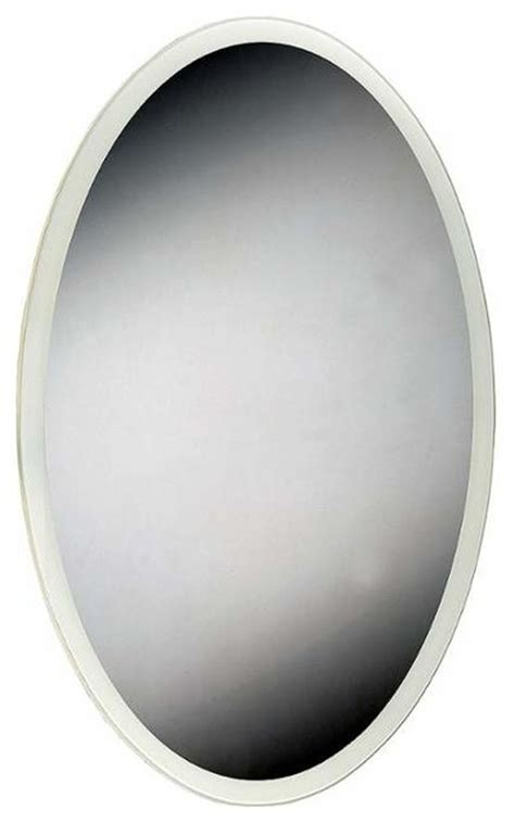 flat bathroom mirror eurofase lighting 29103 oval shaped flat 1 light led