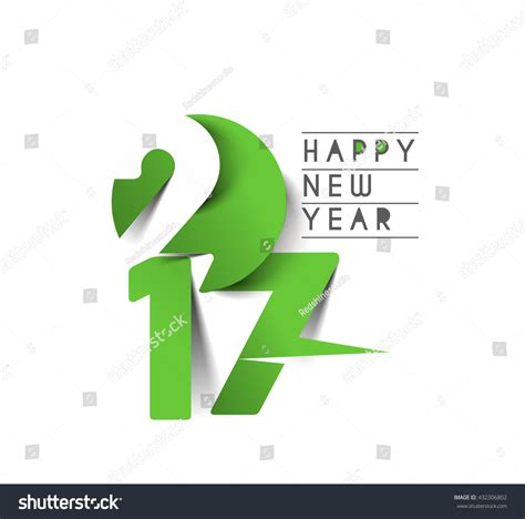 happy new year text vector happy new year 2017 text design vector 432306802