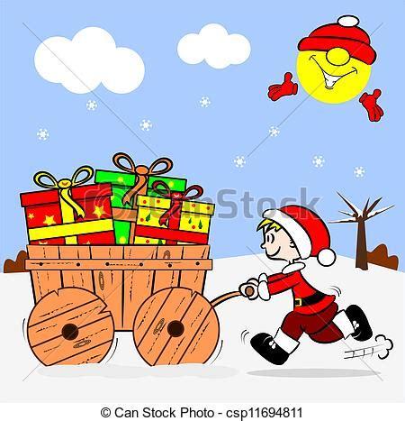imagenes navidad caricaturas vector clip art de caricatura ni 241 o y navidad regalos