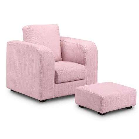 childrens armchair and footstool childrens armchair soft furniture kids chair footstool pouffe pink