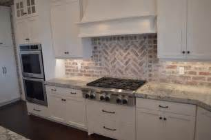 Kitchen Brick Backsplash by Red Brick Kitchen Backsplash Transitional Kitchen