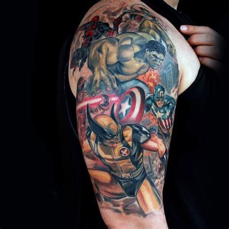 90 wolverine tattoo designs for men x men ink ideas