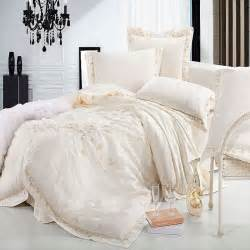 King Size Bedding For Less Aliexpress Buy Luxury Jacquard Silk Bedding Set