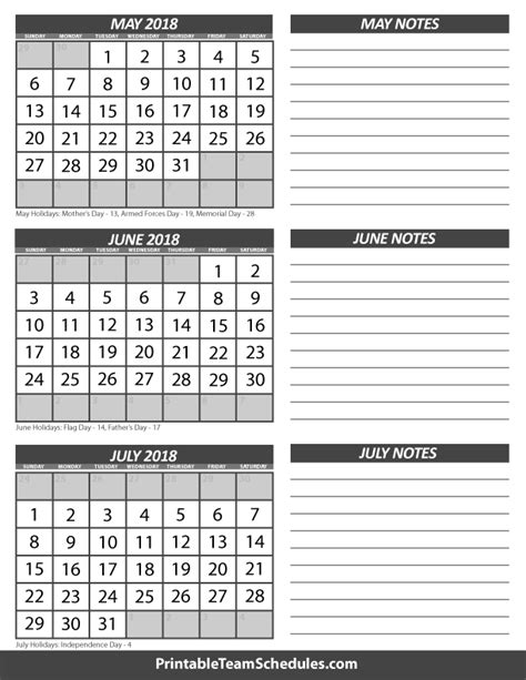 Calendar 2018 May June July May June July Calendar 2018