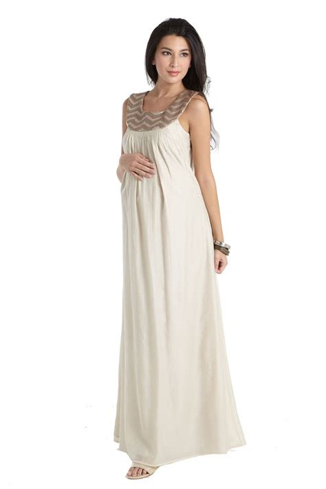 Cleopatra Maxy 2 cleopatra embellished maxi maternity nursing dress in