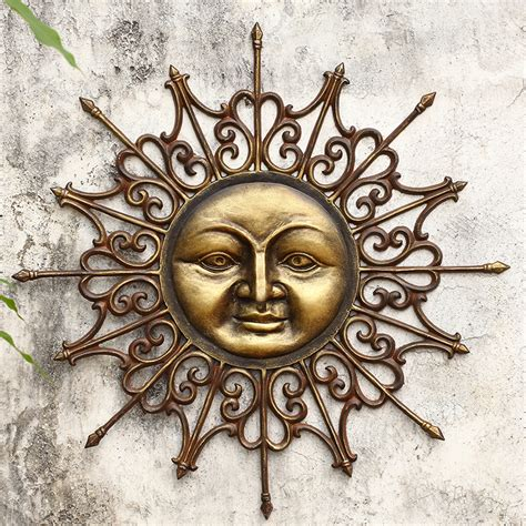 metal sun wall decor spi radiant sun wall plaque 34044