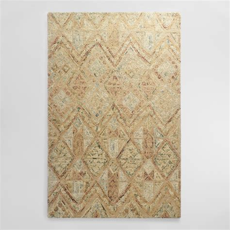 Light Brown Tufted Wool Maris Area Rug World Market Wool Area Rugs