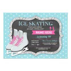 skating birthday invitations announcements