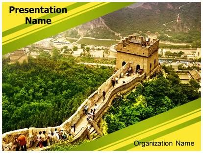 Great Wall Of China Powerpoint Template Background Great Wall Of China Powerpoint
