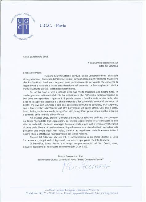 lettere al papa lettera al santo padre