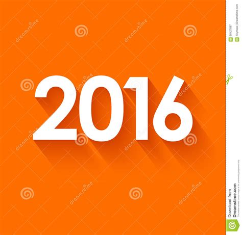 new year 2016 oranges new year 2016 in flat style on orange background stock