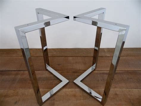 Pied Metal Table 4284 by Stainless Steel Table Legs And Legs On