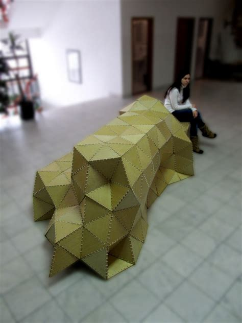 Ideas To Decorate A Small Living Room Sculptural Seating Unit Inspired By The Art Of Origami