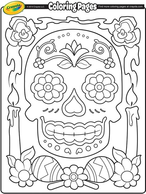 Dia De Los Muertos Free Coloring Pages dia de los muertos coloring page crayola