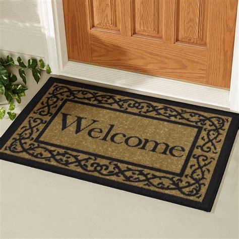Door Doormat by Ottomanson Welcome Beige 20 In X 30 In Non Slip Door Mat
