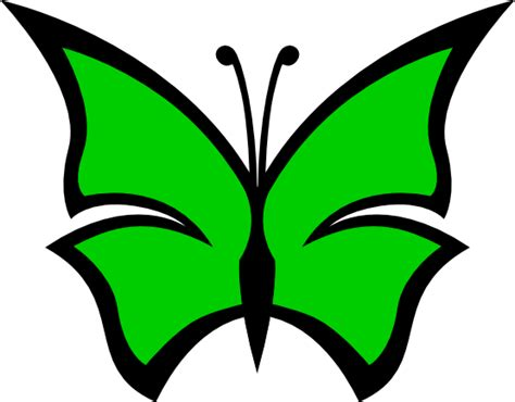 Color Green by Green Butterfly Clipart Clipart Panda Free Clipart Images