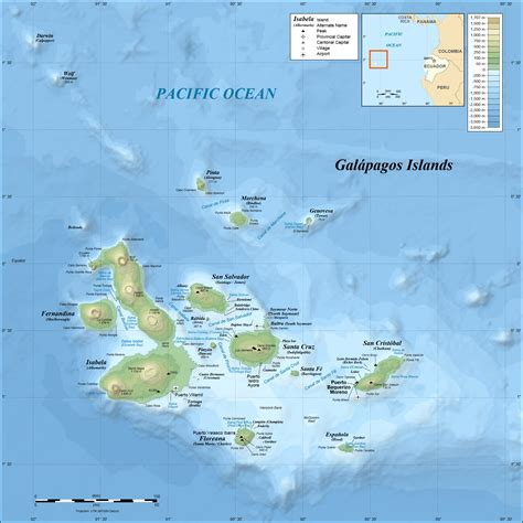galapagos map mapa de islas gal 225 pagos gal 225 pagos islands map