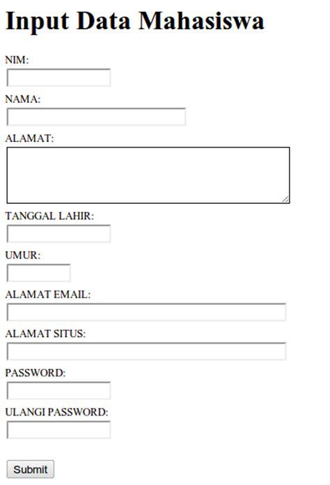 membuat form data mahasiswa dengan html membuat validasi form dengan jquery validation achmatim net