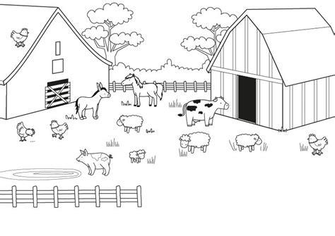 imagenes para colorear animales de la granja una granja dibujo para colorear e imprimir