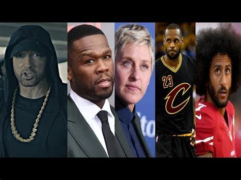 donald trump reacts to eminem celebrities react to eminem s freestyle going at donald