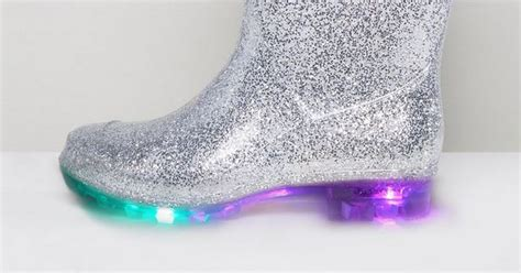 where do they sell light up shoes asos light up glitter wellies are the festival