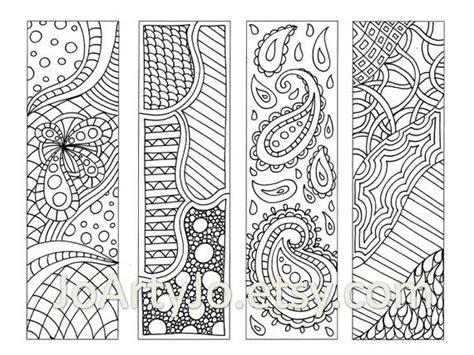 zentangle pattern books zendoodle bookmarks diy zentangle inspired printable