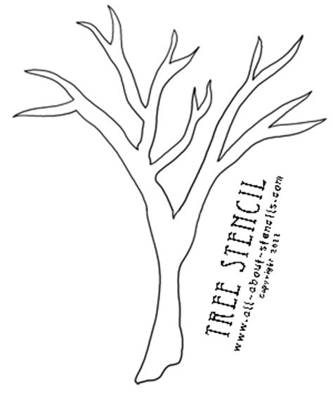 6 best images of printable tree stencils wall tree wall