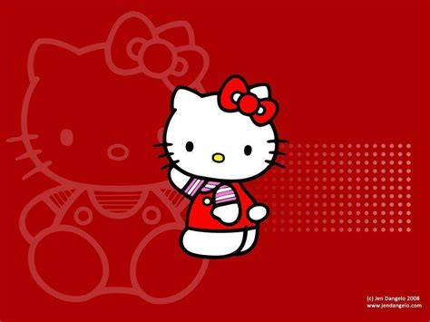 hello kitty handphone wallpaper hello kitty red wallpapers wallpaper cave