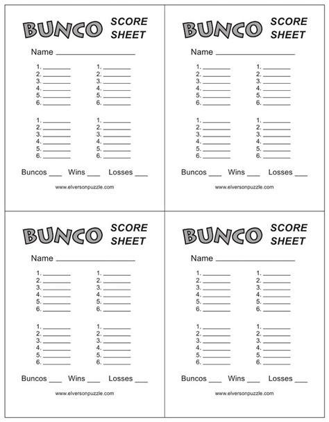 free bunco scorecard template printable bunco score cards score sheet templates all