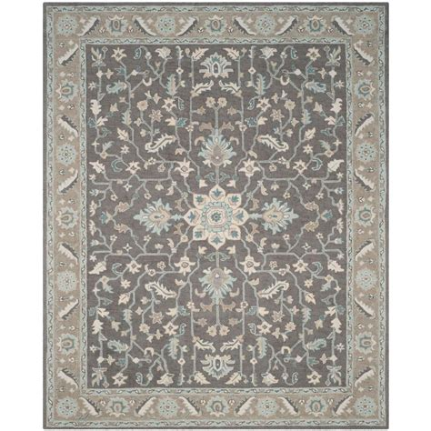 brown and gray area rug safavieh blossom grey light brown 8 ft x 10 ft area rug blm217a 8 the home depot