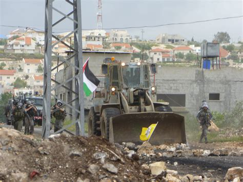Bulldozers The Came Employing by Collective Of Kufr Qaddum By The Israeli