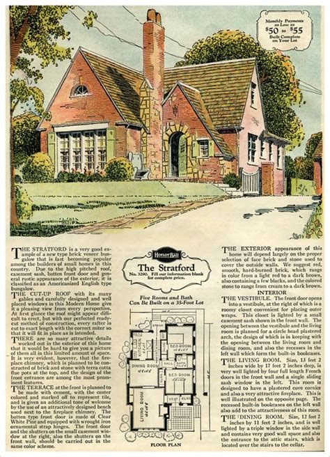 tudor house plans 1920 s house kits bricks and 1950s house on pinterest