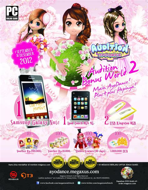 Voucher Megaxus 100 000 s event ayodance bonus world part 2